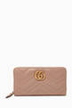 thumbnail of GG Marmont Zip-Around Wallet in Chevron Leather    #0