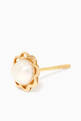 thumbnail of Scalloped Pearl Stud Earrings in 18kt Yellow Gold           #1