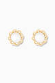 thumbnail of Scalloped Pearl Stud Earrings in 18kt Yellow Gold           #0