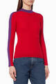 thumbnail of Colour-Block Ribbed Sweater   #0