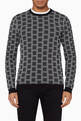 thumbnail of Knitted 3D Jacquard Sweater        #0