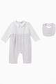 thumbnail of Stripe Cotton Jumpsuit & Bib, Set of 2     #0