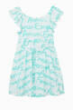 thumbnail of Logo Print Ruffled Cotton Dress   #0