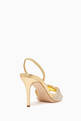 thumbnail of Rosaline Metallic Leather Slingback Sandals #1