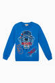 thumbnail of Tiger Embroidery Cotton Sweatshirt   #0