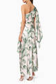 thumbnail of Tropical Print Caspian One-Shoulder Dress #2