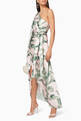 thumbnail of Tropical Print Caspian One-Shoulder Dress #1