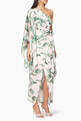 thumbnail of Tropical Print Caspian One-Shoulder Dress #0