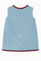 thumbnail of Embroidered Sleeveless Denim Dress   #2