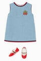 thumbnail of Embroidered Sleeveless Denim Dress   #1