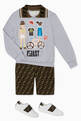 thumbnail of Cycling Print Polo Collar Sweatshirt     #1