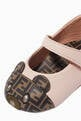 thumbnail of Teddy Bear Leather Ballerina Shoes     #3