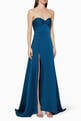 thumbnail of Magnolia Satin High-Slit Maxi Dress #0
