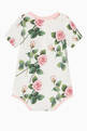 thumbnail of Rose-Print Babysuit & Bib Set    #2