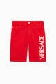 thumbnail of Logo-Print Stretch Cotton Shorts     #0