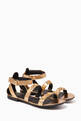 thumbnail of Medusa Laminated Leather Sandals       #0