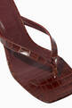 thumbnail of Audrey Crocodile-Embossed Leather Sandals    #5