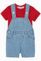 thumbnail of Chambray Cotton & Linen Dungarees   #1