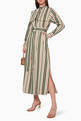thumbnail of Striped Cotton Belted Dress   #1