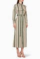thumbnail of Striped Cotton Belted Dress   #0