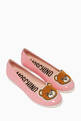 thumbnail of Leather Ballerinas With Teddy Appliqué     #0