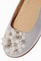 thumbnail of Pearl Appliqué Ballerina Pumps    #3
