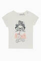 thumbnail of Glittery Cat Print Jersey T-Shirt    #0