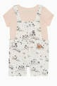 thumbnail of Cotton T-Shirt & Dungarees Set   #2