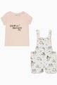 thumbnail of Cotton T-Shirt & Dungarees Set   #1