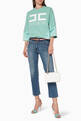 thumbnail of Belted Denim Cropped Jeans      #1