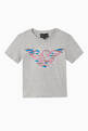 thumbnail of EA Eagle Sequinned Jersey T-Shirt      #0