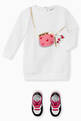 thumbnail of EA Bag Print Jersey Sweatshirt Dress #1