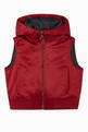 thumbnail of Eagle Logo Poly Satin Puffer Vest   #0