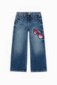 thumbnail of Embroidered Sunglasses Wide Leg Denim Jeans  #0