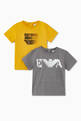 thumbnail of Eagle Logo Cotton Jersey T-Shirt, Set of 2    #0