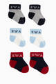 thumbnail of EA Colour Block Socks, Set of 3     #0