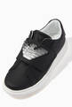 thumbnail of Macro Eagle Logo Velcro Sneakers in Calf Leather #3