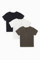 thumbnail of Puzzle & Dice Motif Jersey T-Shirts, Set of 3 #1