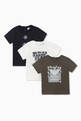 thumbnail of Puzzle & Dice Motif Jersey T-Shirts, Set of 3 #0