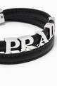 thumbnail of Logo Lettering Double Wrap Bracelet in Saffiano Leather     #3