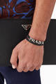 thumbnail of Logo Lettering Double Wrap Bracelet in Saffiano Leather     #1