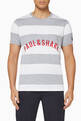 thumbnail of Striped Logo Cotton T-Shirt   #0