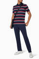 thumbnail of Stripe Pique Cotton Polo T-Shirt    #1