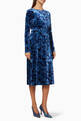 thumbnail of Printed Velvet Jersey Midi Dress #0