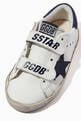 thumbnail of Old School Sneakers with Suede Star in Leather           #3