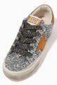 thumbnail of Superstar Sneakers with Leather Star in Glitter     #3
