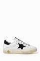thumbnail of Superstar Sneakers with Suede Star in Leather        #2