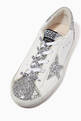 thumbnail of Super-Star Sneakers with Glittery Star & Insert in Leather   #3