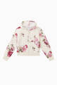 thumbnail of Floral Print Cotton Hoodie    #0