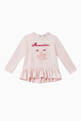 thumbnail of Embroidered Ruffled Cotton T-Shirt   #0